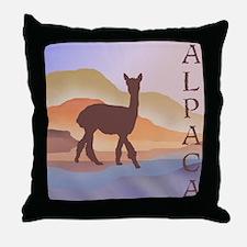 Mountain Mirage Alpaca Throw Pillow