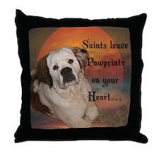 Saint Bernard Pup Throw Pillow