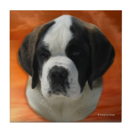Saint Puppy Tile Coaster4