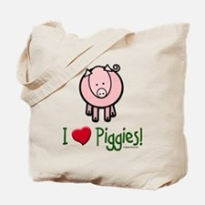 I heart piggies Tote Bag
