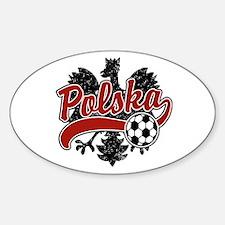 Polska Soccer Oval Stickers