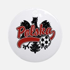 Polska Soccer Ornament (Round)