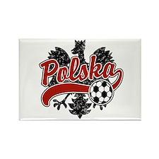 Polska Soccer Rectangle Magnet