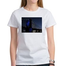 Brooklyn Bridge Blue w Fireworks Tee