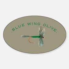 Blue Wing Olive Fly Oval Decal