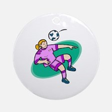 Soccer girl - purple Ornament (Round)