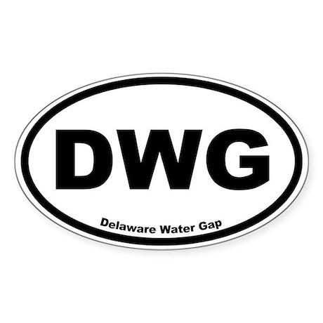 Delaware Water Gap Oval Sticker