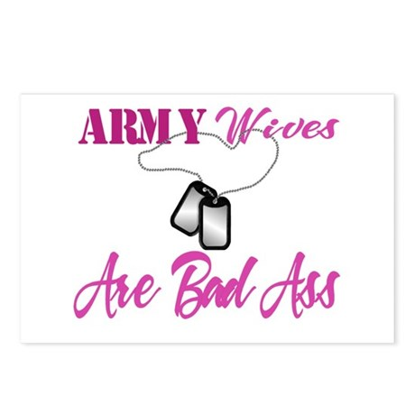 army wives are bad ass Postcards (Package of 8)