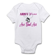 army wives are bad ass Infant Bodysuit