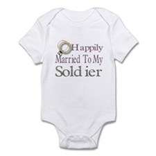 happily married to my soldier Infant Bodysuit
