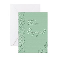 We're Engaged 2g Greeting Cards (Pk of 10)