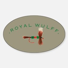 Royal Wulff Fly Lure Oval Decal
