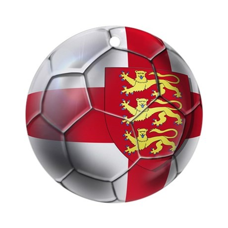 Three Lions Football Ornament (Round)