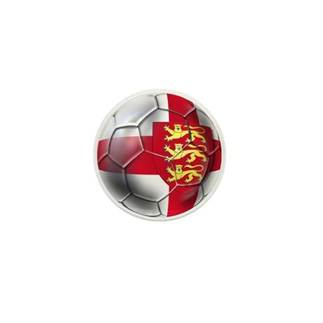 Three Lions Football Mini Button
