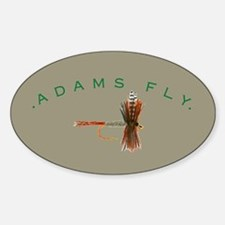 Adams Fly Lure Oval Decal