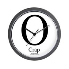 O Crap - Wall Clock