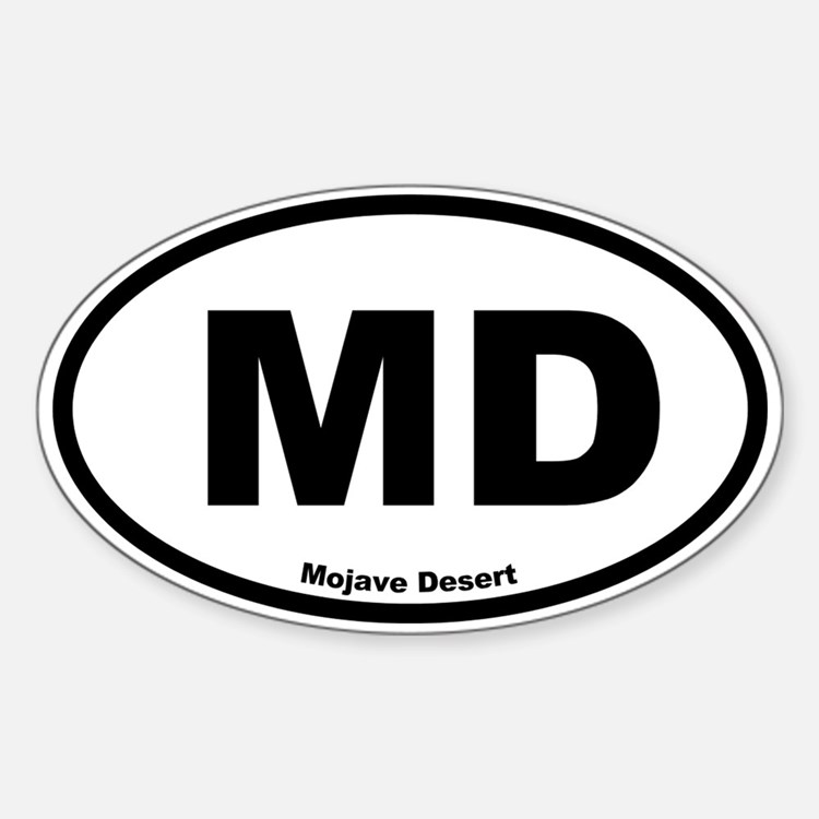 Mojave Desert Oval Decal