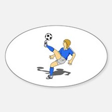 Soccer Shooter Oval Decal