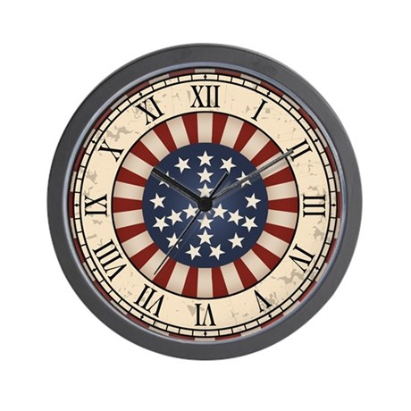 Antique Peace Flag Wall Clock