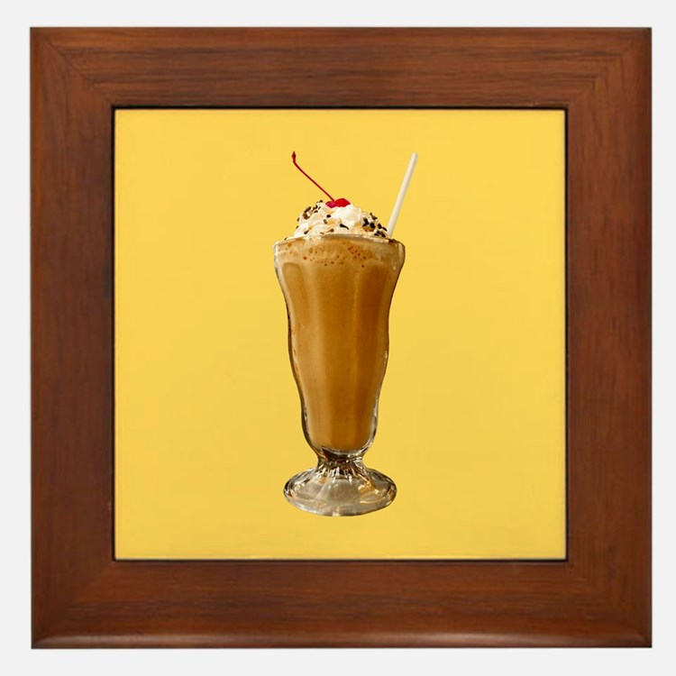 Chocolate Milkshake Framed Tile