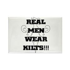 Real Men Wear Kilts Rectangle Magnet