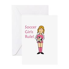 Soccer Girls Rule Greeting Card