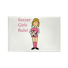 Soccer Girls Rule Rectangle Magnet