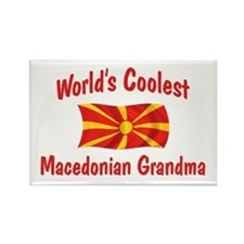 Coolest Macedonian Grandma Rectangle Magnet