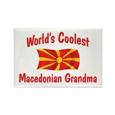 Coolest Macedonian Grandma Rectangle Magnet