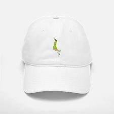 Lime Green Soccer Girl Baseball Baseball Cap