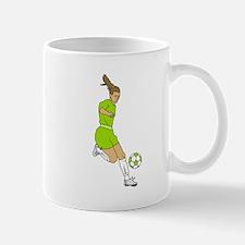 Lime Green Soccer Girl Mug