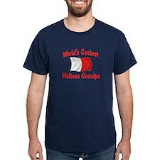 Coolest Maltese Grandpa T-Shirt