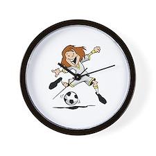 Happy Soccer Girl Wall Clock