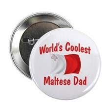 "Coolest Maltese Dad 2.25"" Button"
