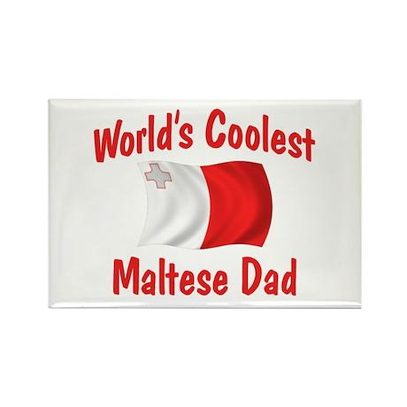 Coolest Maltese Dad Rectangle Magnet