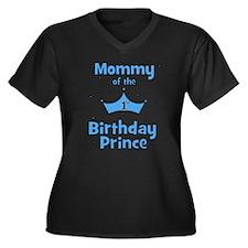 Mommy of the 1st Birthday Pri Women's Plus Size V-
