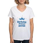 1st Birthday Prince Zhyen! Women's V-Neck T-Shirt