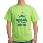 1st Birthday Prince Zhyen! Green T-Shirt