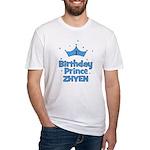 1st Birthday Prince Zhyen! Fitted T-Shirt