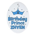 1st Birthday Prince Zhyen! Oval Ornament