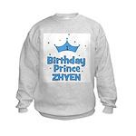 1st Birthday Prince Zhyen! Kids Sweatshirt