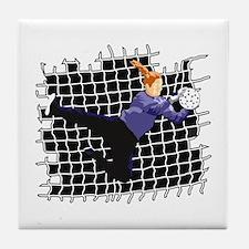 Soccer Girl Goalie Tile Coaster