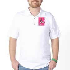 Pink Soccer Girl Logo T-Shirt