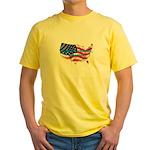 HAPPY BIRTHDAY, AMERICA Yellow T-Shirt