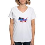 HAPPY BIRTHDAY, AMERICA Women's V-Neck T-Shirt