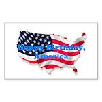 HAPPY BIRTHDAY, AMERICA Rectangle Sticker 50 pk)
