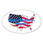 HAPPY BIRTHDAY, AMERICA Oval Sticker