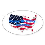 HAPPY BIRTHDAY, AMERICA Oval Sticker (10 pk)
