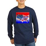 HAPPY BIRTHDAY, AMERICA Long Sleeve Dark T-Shirt