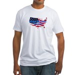 HAPPY BIRTHDAY, AMERICA Fitted T-Shirt